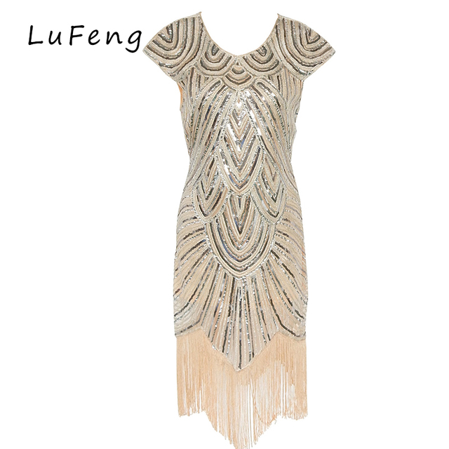Tassel Sequin Women Dress Silver Runway Dresses Party Sexy Tassel Formal Vestidos Sexy Gothic Dresses Ropa Mujer H0016-822