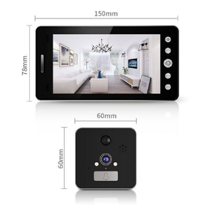 Image 5 - Saful 5 Wifi ドアカメラピープホールビューア用ドアベルデジタルモーション検出とナイトビジョン