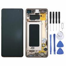 Original AMOLED LCD for SAMSUNG Galaxy S10 Plus Display Touch Screen Digitizer with Frame Replacement LCD G975 Display original amoled lcd for samsung galaxy s10 plus display touch screen digitizer with frame replacement lcd g975 display