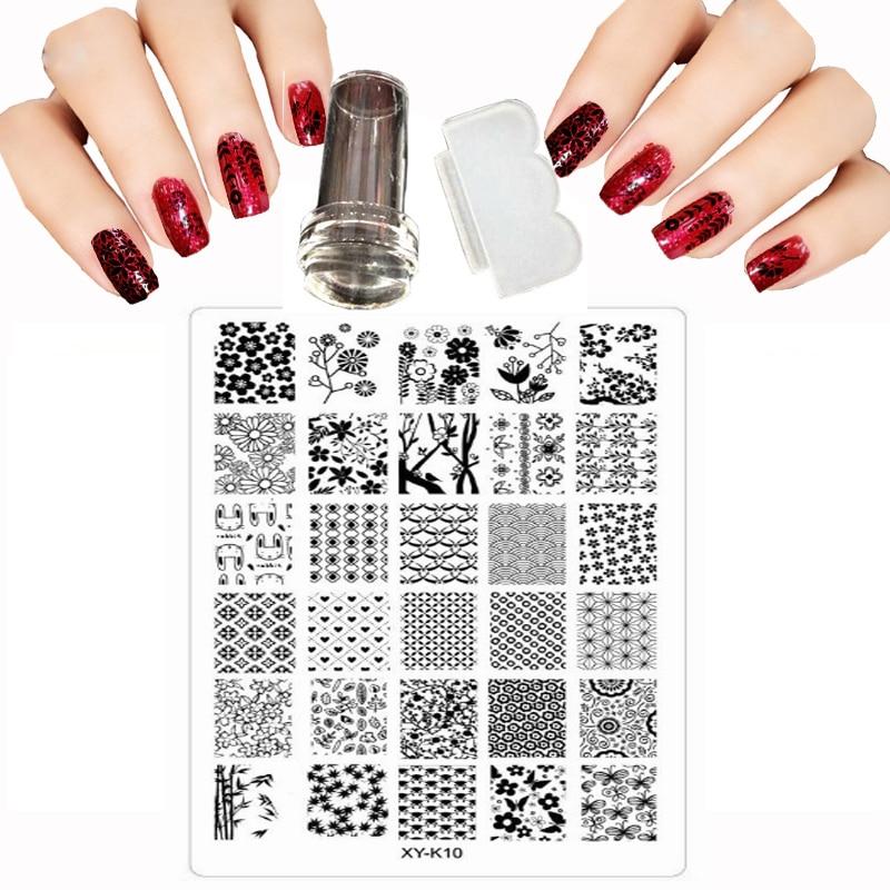 Novinka 30 styl 9.5x14.5cm Nail art štítek Image Plate DIY - Manikúra