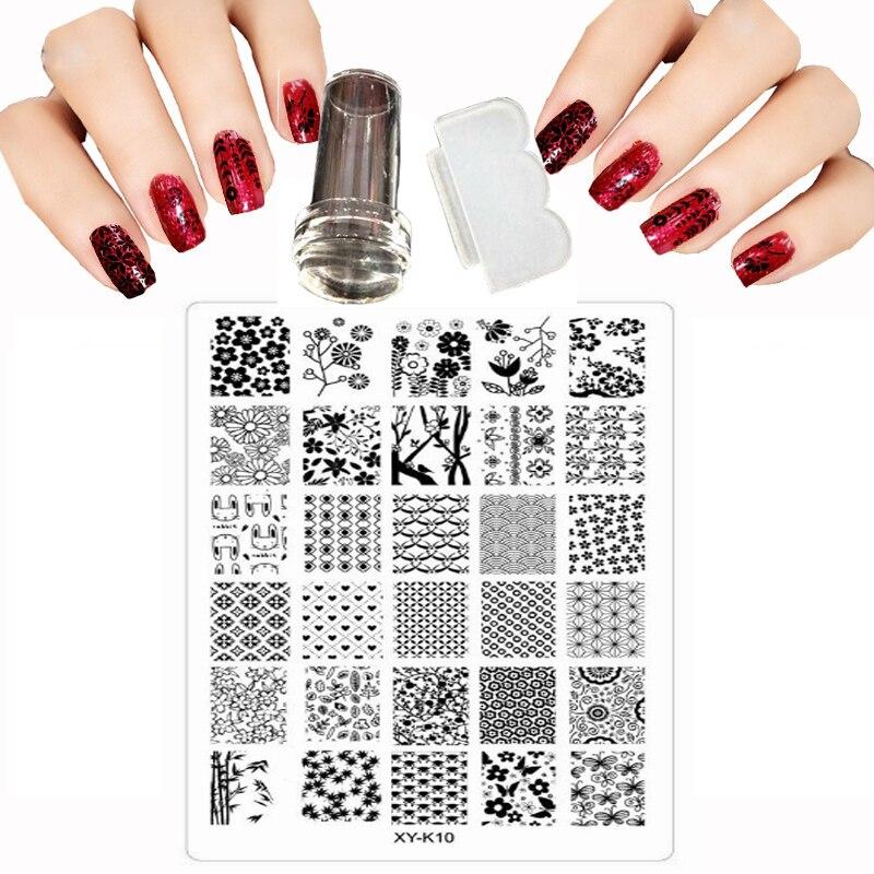 Kads 3pcs Christmas Nail Stamping Plate Template Image Design Plates