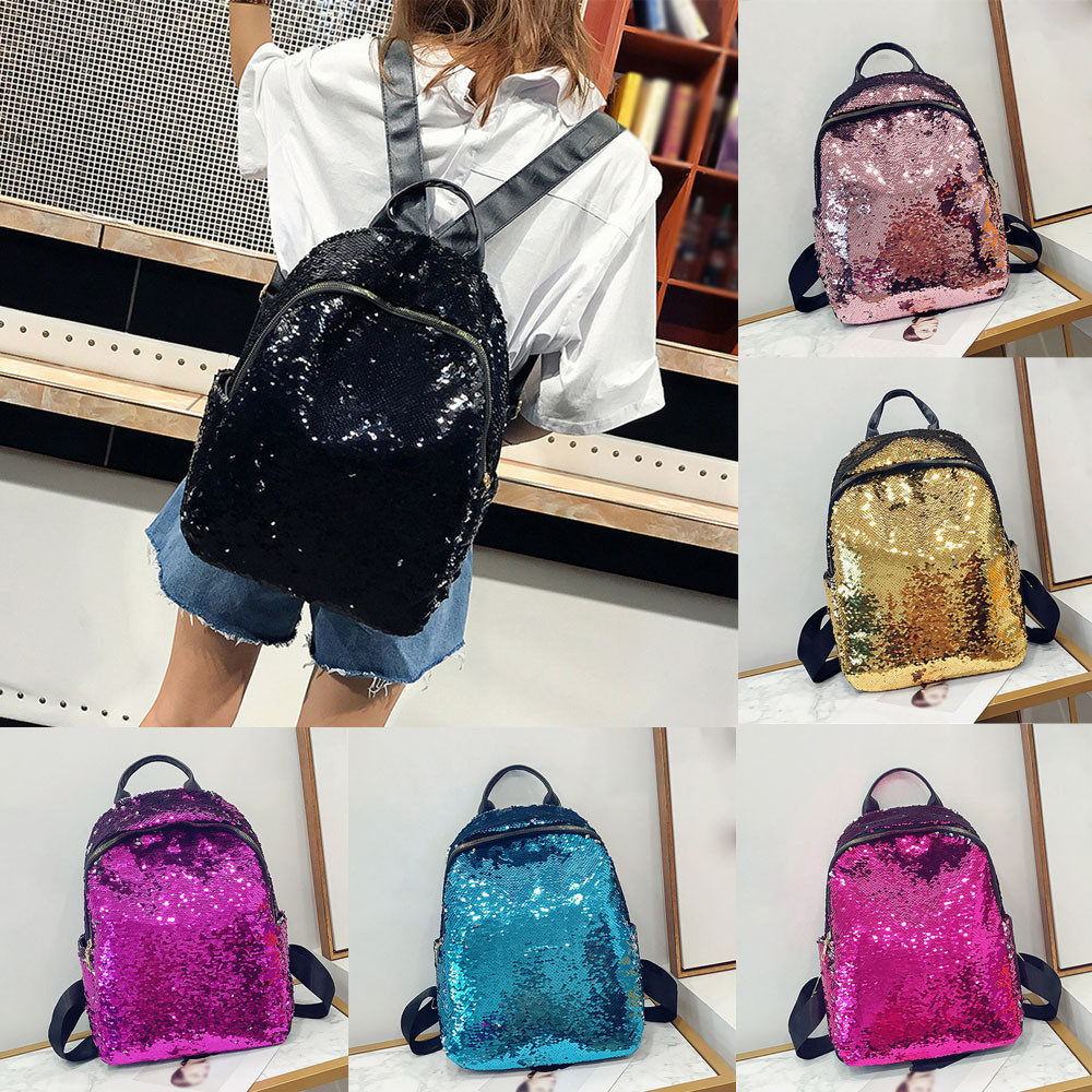 Naivety Women Fashion Girl Sequins School Bag PU Leather Backpack Satchel Student Travel Zipper Shoulder Solid Bags 10Jul 11  Naivety Women Fashion Girl Sequins School Bag PU Leather Backpack Satchel Student Travel Zipper Shoulder Solid Bags 10Jul 11