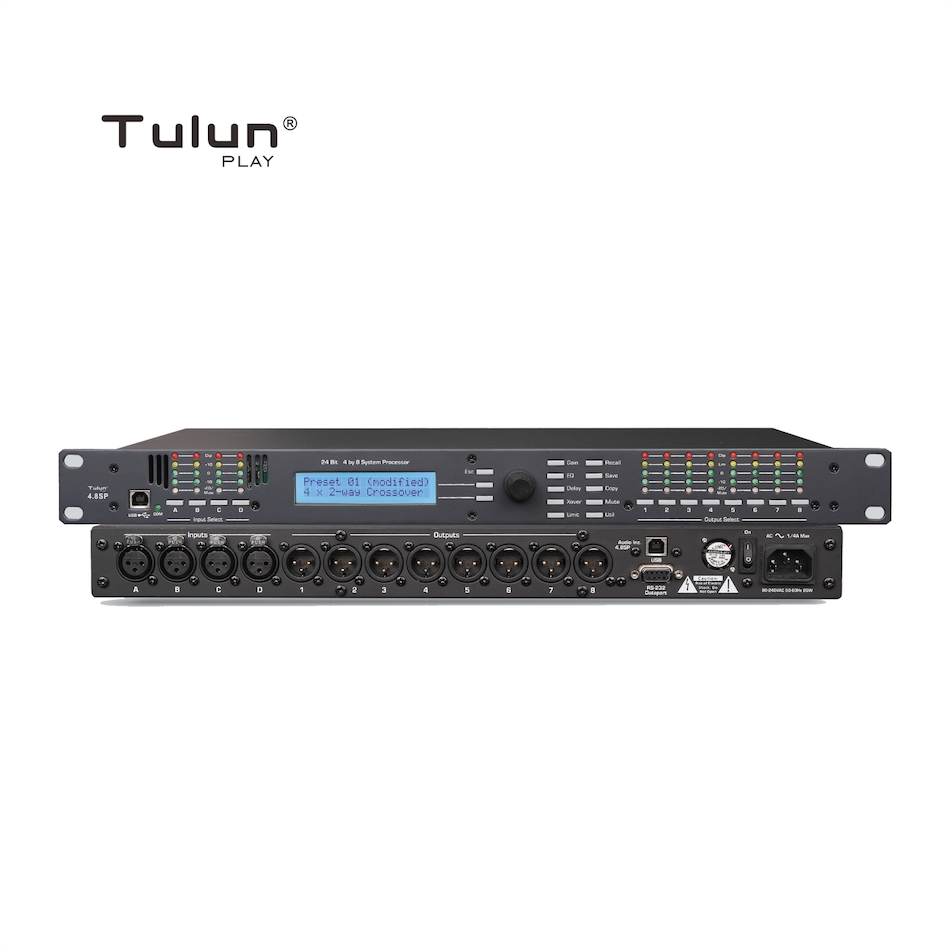 4in 8out Audio Sound Processor DSP Digital Signal Processors Tulun Play 4.8SP