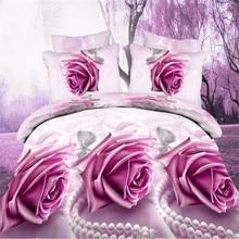 3D Flower Bedding Set Duvet Cover, Bed Sheet, Pillowcase