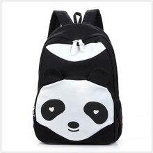 Plush Animal Kung Fu Panda Backpacks 2016 Cute Women Casual Canvas school bags for teenage girls mochila feminina Dropshipping