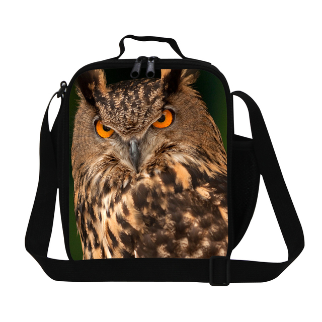 2016 Special Offer Animal Owl Print Lunch Box Children Lunch bag Food Container Storage Bags Picnic Portable Bento Lunch Box