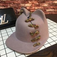 Braid cute teddy bear baseball cap new cloth cutting design fashion personality joker bonnet