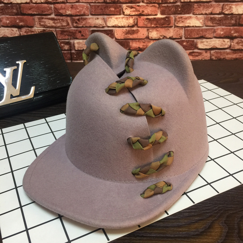 Braid cute teddy bear baseball cap new cloth cutting design fashion personality joker bonnet
