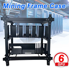 New Open Air Mining Frame Case for 6 GPU Crypto Coin Mining Rigs Server Chassis Drawer Style Card Video Case