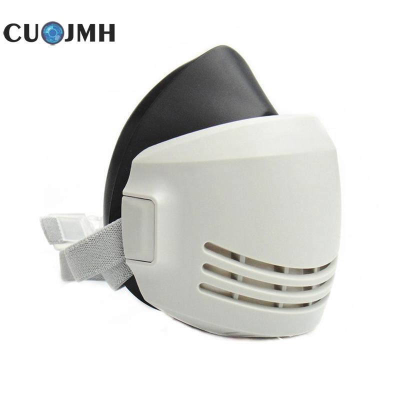 White Rubber Anti-dust Respirator Industrial Welding Dust Mask Headset Pm2.5 Respiratory Protection Security Protector Mask jaisati transparent dust proof welding hood headset mask abor protection protection surface screen splash mask