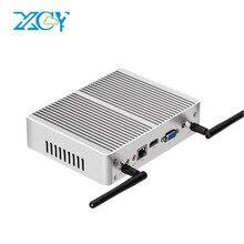 XCY двухъядерный Мини-ПК i3 5005u 4010u 4010y i5 4210y безвентиляторный WI-FI Micro компьютер настольный HTPC ТВ Box HDMI VGA Окна 10