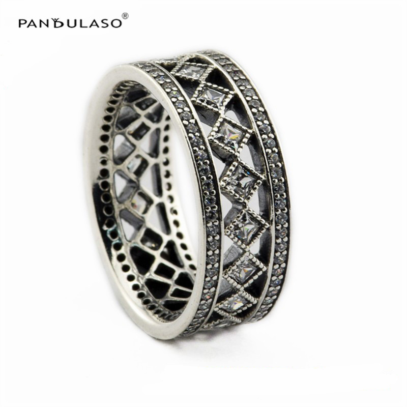 Vintage Fascination Clear CZ Crystal Women Rings 925 Sterling Silver Jewelry Hot Silver Rings for Men Classic Wedding JewelryVintage Fascination Clear CZ Crystal Women Rings 925 Sterling Silver Jewelry Hot Silver Rings for Men Classic Wedding Jewelry