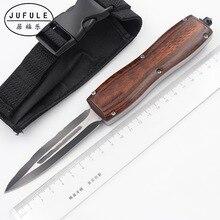 JUFULE Made 3300 D2 лезвия деревянной ручкой складной Открытый Тактические Кемпинг Охота EDC инструмент ужин кухонный нож