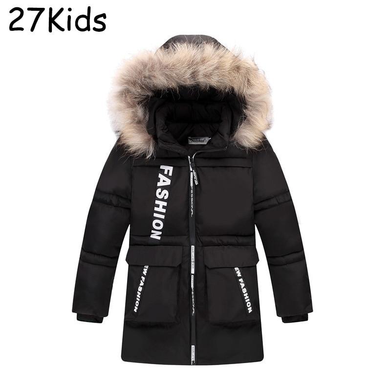 Jacket Boys 2017 New Brand Baby Boys Winter Jackets Long Hooded Girl White Duck Down Parka Teenage Warm Coat For Boy 4-12 Years стоимость