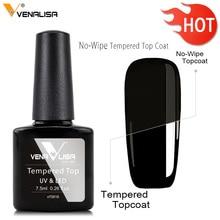 Venalisa Tempered No Wipe Top Coat Base Gel Top Coat Matte Top Nail Gel 7.5~12ml All Nail Base&Top Gel