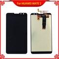 Negro pantalla lcd de pantalla táctil panel táctil para huawei mate2 mt2 alta calidad 6.1 ''mobile lcd del teléfono envío gratis