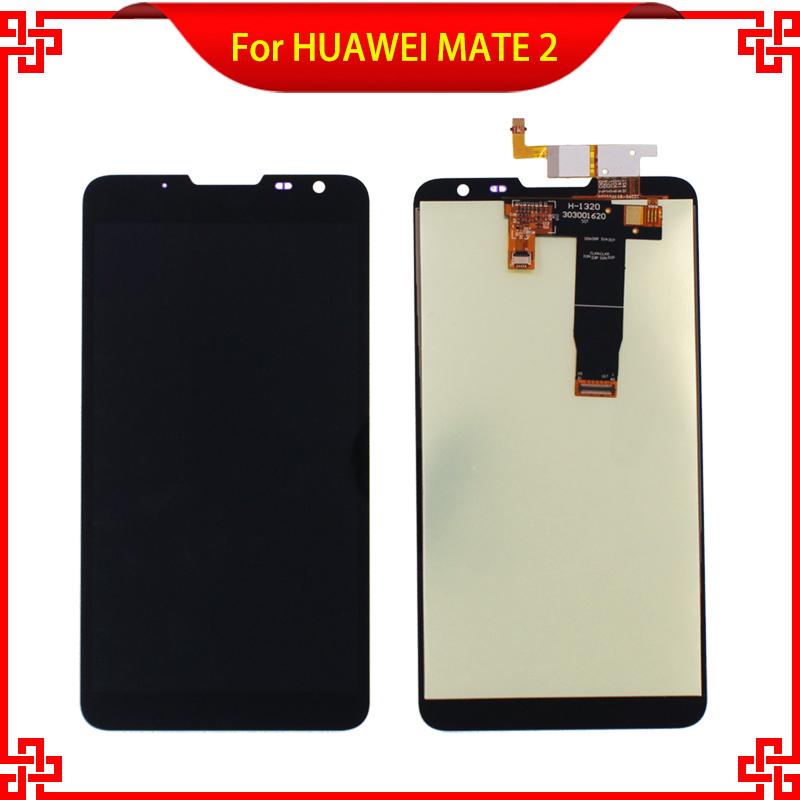Prix pour Noir Tactile Panneau Pour HUAWEI MATE2 MT2 LCD Affichage Écran Tactile Haute Qualité 6.1 ''Mobile Téléphone Lcd Livraison Gratuite
