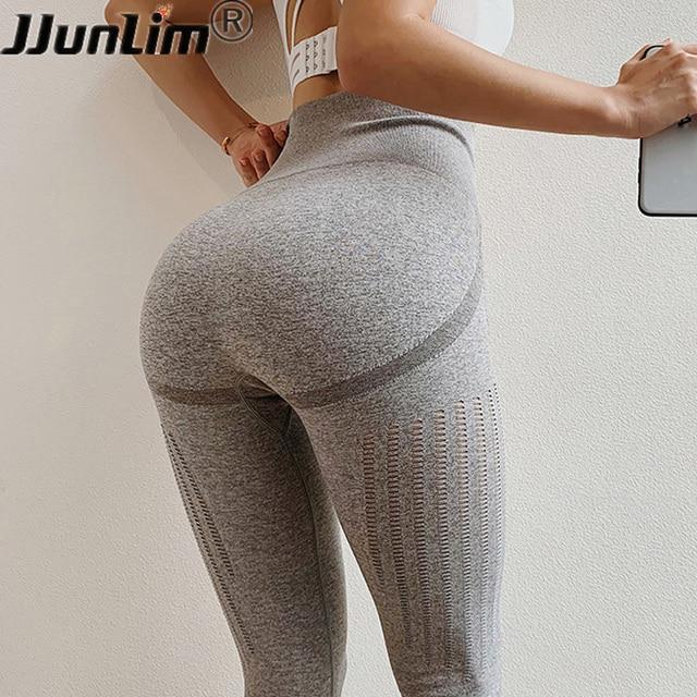 c53d42ffa Mulheres Sem Costura Leggings de Fitness Empurrar Para Cima Calças Yoga  Cintura Alta Calça Esporte Treino Correndo Pant Esticar Ginásio