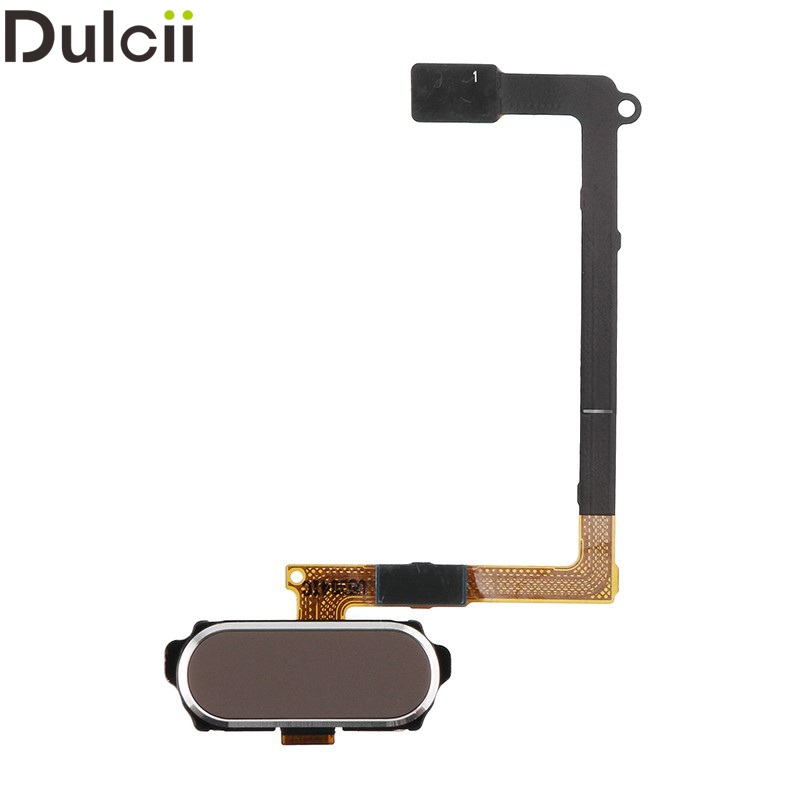Dulcii Mobile Phone Parts for Galaxy S 6 G920 OEM Home Button Flex Cable for Samsung Galaxy S6 G920 - Gold
