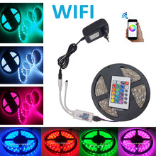 Wifi 10M 15M 20M 5M RGB LED Strip DC12V LED strip Light 5050 SMD Fita Led Neon Ribbon tape with Wifi controller