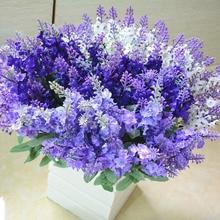 10 Heads/Bouquet Silk Artificial Lavender Flower Fake for Home Garden Plant Decor Desk