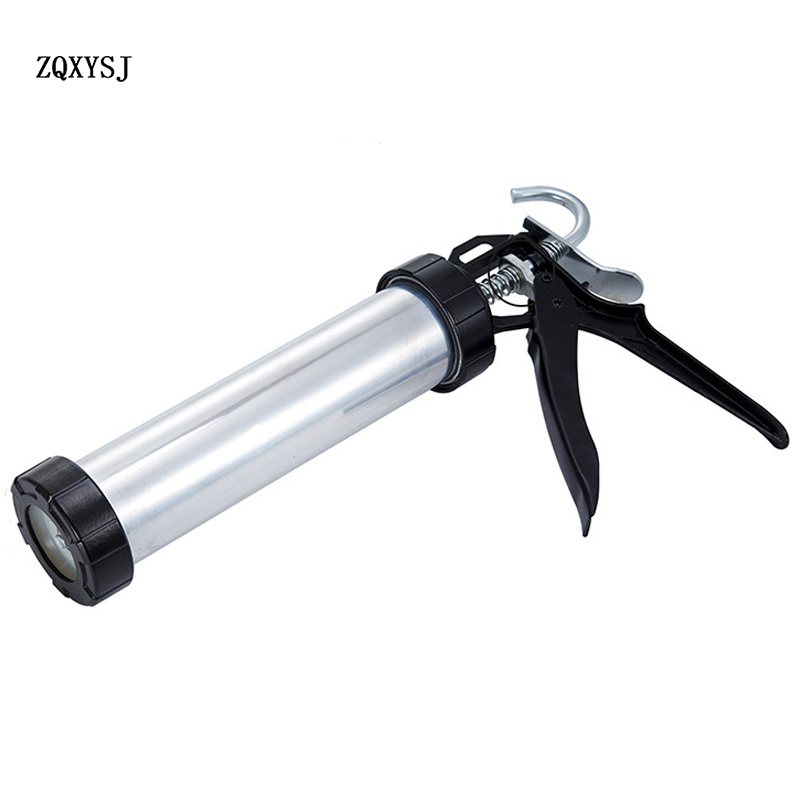 9 Inch Thick Aluminum Cylinder Glass Glue Gun Profession Handheld Cartridge Gun Silicon Structure Glue Gun For Home Improvement