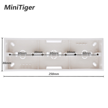 Minitiger External Mounting Box 258mm*86mm*34mm for 86 Type Triple Touch Switch or Socket Apply For Any Position of Wall Surface