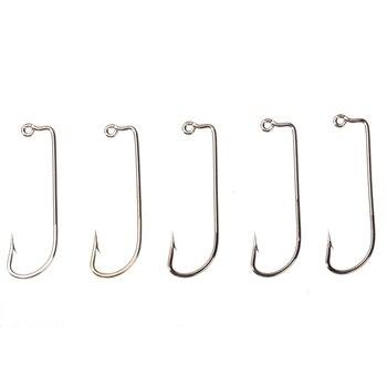 100pcs/lot High Carbon Steel Fishhook Fishing Jig Hook Fishing Tackle Accessory
