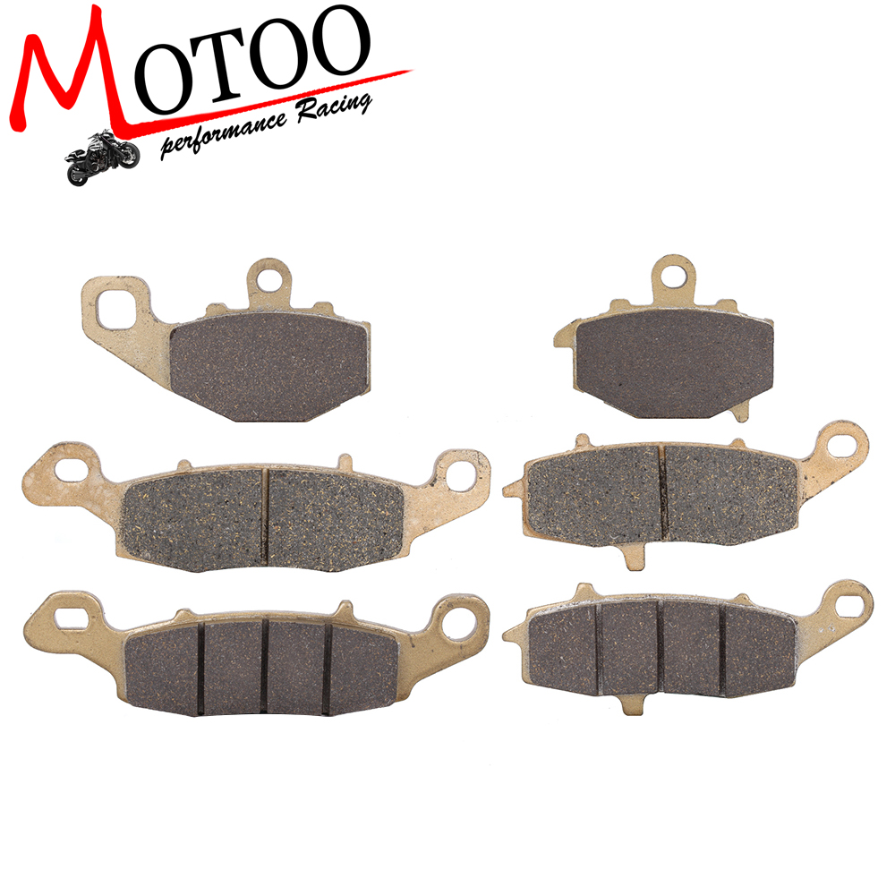 Motoo - Motorcycle Front and Rear Brake Pads For KAWASAKI GPZ1100 95-98 Z750 ZR750 04-07 Z750S 05-07 ER-6N 2006-2013