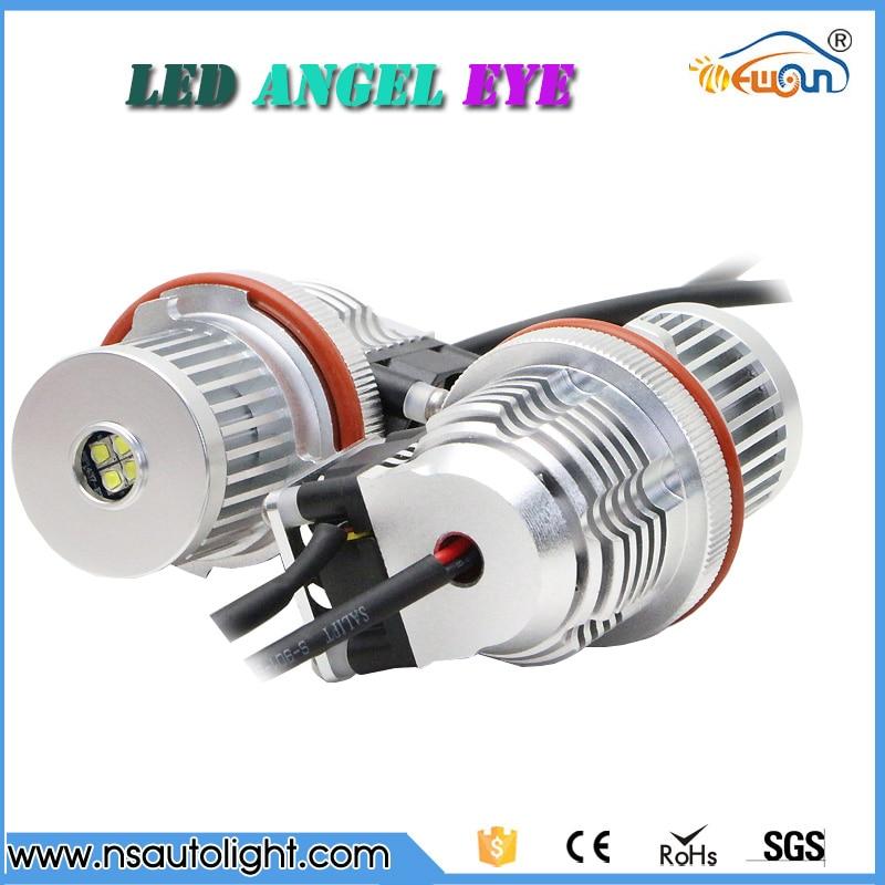 7000K WHITE E39 40W angel eyes lights led halo Cree chips for BMW E87 E60 E61 E63 E64 E65 E66 E53 E83 car angel eyes headlights hot sell for bmw e39 e64 e60 e66 e83 e87 angel eye halo bulb light 2 7w white cree led