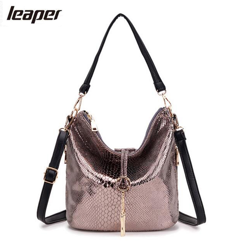 Leaper Women Bag Snake Tassel Half Moon Small Serpentine Leather Women Messenger Bags Handbags Women Famous Brands Shoulder Bags chispaulo women genuine leather handbags cowhide patent famous brands designer handbags high quality tote bag bolsa tassel c165