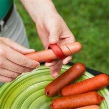 2 шт кухонные принадлежности для барбекю, ломтик для хот-догов, пластиковый нож колбасный, креативный инструмент для приготовления пищи, кухонный ломтик, принадлежности