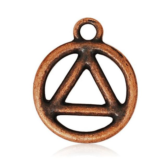 155195mm Metal Recovery Peace Symbol Peace Pendant Alloy