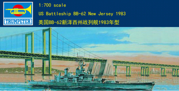 Trumpet 05702 1:700 us BB-62 New Jersey battleship 1983 Assembly model image