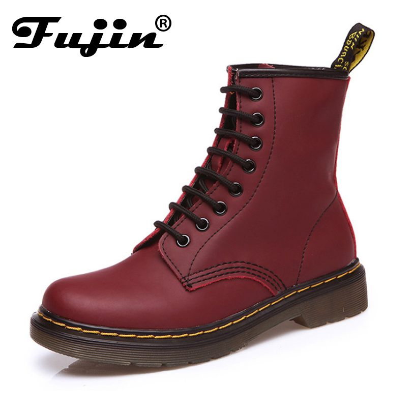 ФОТО New 2017 autumn winter Women flat with Boots Shoes British Style Ankle Lace-Up Fashion flats solid add cotton shoes size 35-44