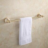 Space Aluminum Chamgapne Porcelain Single Towel Bar Europe Style Gold Bathroom Single Towel Rack Bathroom Towel