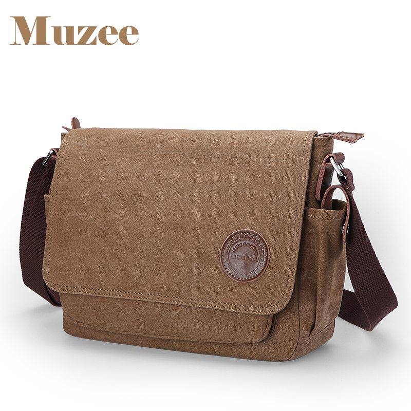 все цены на Muzee Vintage Men's Messenger Bags Canvas Shoulder Bag Fashion Men Business Crossbody Bag Travel Handbag