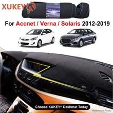 Крышка приборной панели автомобиля тире крышка коврики для коврового покрытия для hyundai Solaris Accent Verna 2012 2013