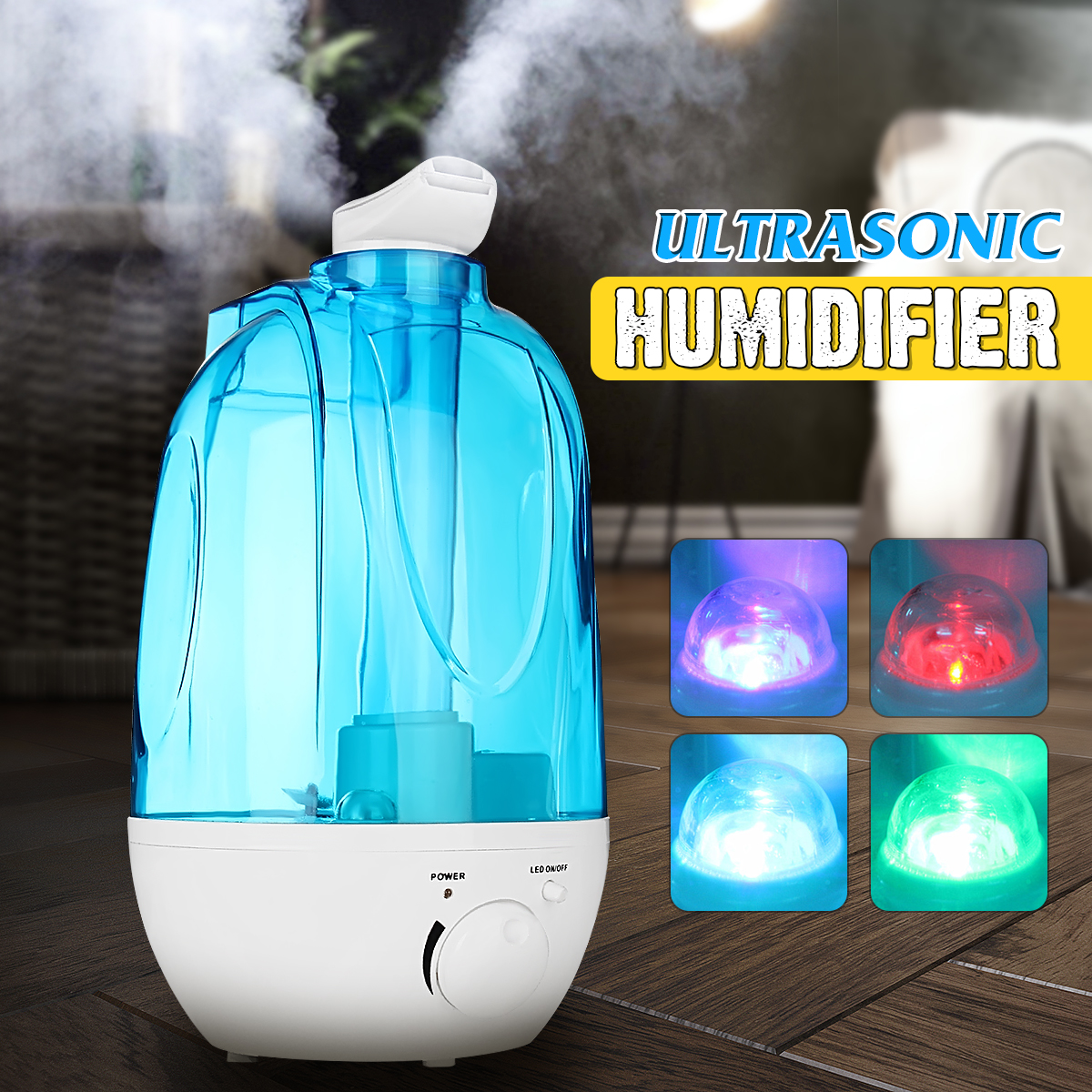 4L Automatic Air Ultrasonic Humidifier Electric USB LED Lights Air Aroma Aromatherapy oil Diffuser Mist Maker Fogger Purifier 4l automatic air ultrasonic humidifier electric usb led lights air aroma aromatherapy oil diffuser mist maker fogger purifier