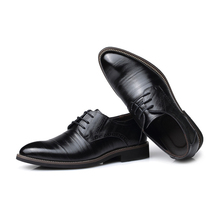 Plus Size 38 48 Leather Concise Men Business Dress Pointy Black Shoes Breathable Formal Wedding Basic Shoes Male 2018 loafers