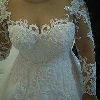 wuzhiyi vestido de noiva sexy wedding dress 2019 backless Princess Ball Gown Bridal wedding Gown Custom made mariage trouwjurk