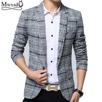 Mwxsd Brand Quality Autumn Suit Blazer Men Fashion Slim Male Suits Casual Suit Jacket Masculine Blazer