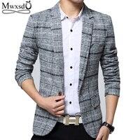 Mwxsd Brand Quality Autumn Suit Blazer Men Fashion Slim Male Suits Casual Suit Jacket Masculine Blazer