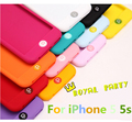 Hot Sale Rainbow Color Home Button Silicone Suave Case Capa Para iphone 5se 5 5s doce cor soft case capa hot atacado