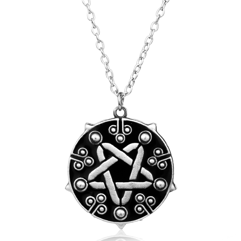 Witcher 3 Hot Game Jewelry Yennefer Medallion Choker Pendant Necklace the Wild Hunt Game Cosplay Silver Jewelry Men Gift