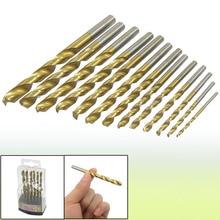 Uxcell Hot Sale 13 in 1Set 1.5mm to 6.5mm Twist Drill Bits Straight Handle HSS Shank Drill Bit Wood Drilling Tool 40pcs set mini drill hss bit 0 5mm 2 0mm straight shank pcb twist drill bits g08 drop ship