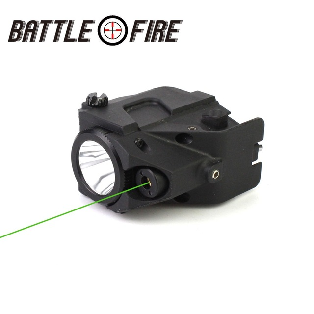 Rechargeable Subzero Tactical Micro Green Laser gun collimator sight  pointer with LED Flashlight   handgun  lazer fleshligh