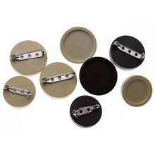 10pcs Blank Wood Cabochon Stainless Steel Brooch Base Settings 20 25mm Round Bezel Tray Diy Brooche Pin Backs for Jewelry Making mibrow 10pcs lot stainless steel 8 10 12 14 16 18 20mm blank french lever earring tray cabochon setting cameo base jewelry