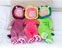 35CM Baby Doll Reborn Doll Toy For Kids Appease Accompany Sleep Cute Vinyl Doll Plush