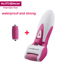 Red waterproof pedicure electric tools Foot Care  Exfoliating Foot Care Tool 2pcs roller pedicure heads scholls KIMISKY